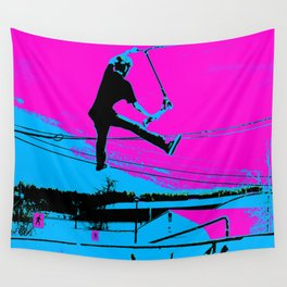 The Tail-Grab Scooter Stunt Wall Tapestry