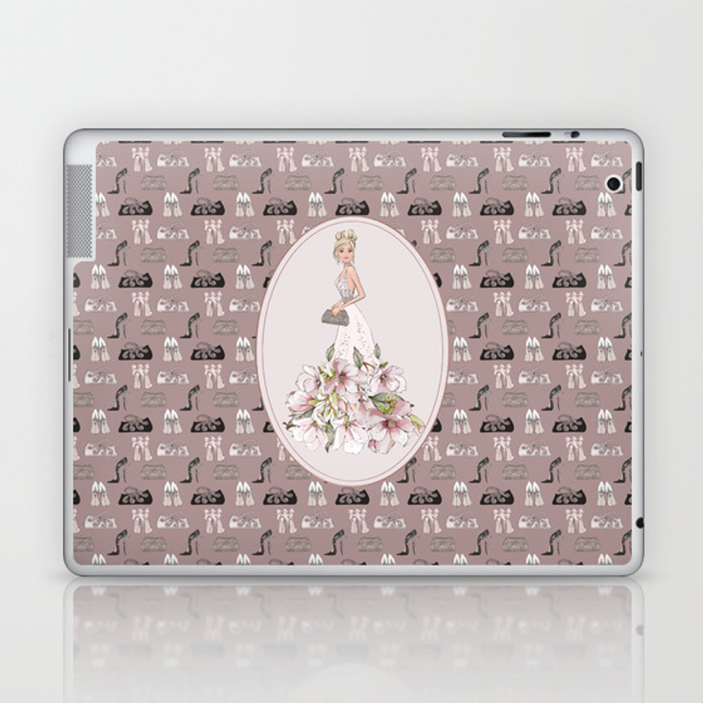 Luxury Girl Party Shoes Purse Pattern Laptop & iPad Skin by art4sharing (LSK10005069) photo