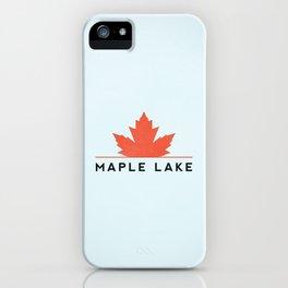 Maple Lake iPhone Case
