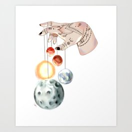 Planetarium of Hands Art Print