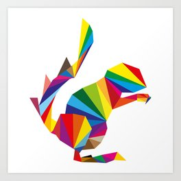rainbow squirrel Art Print