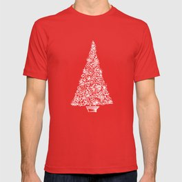 A Christmas tree in New Zealand T-shirt