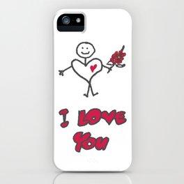 "Heartman ""I Love You"" iPhone Case"