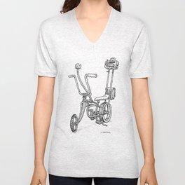 Cartoon Retro Mod Stingray 8-Track Muscle Bike Bicycle Stingray Unisex V-Neck