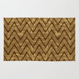Faux Suede Chocolate Brown Chevron Pattern Rug
