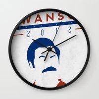 swanson Wall Clocks featuring Swanson 2012 by Clarke Hall