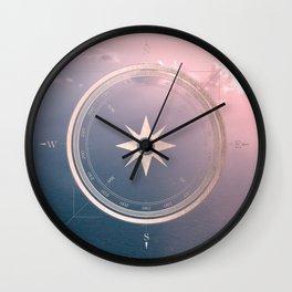 The Edge of Tomorrow - Rosegold Compass Wall Clock
