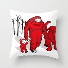 a lot of snow Throw Pillow