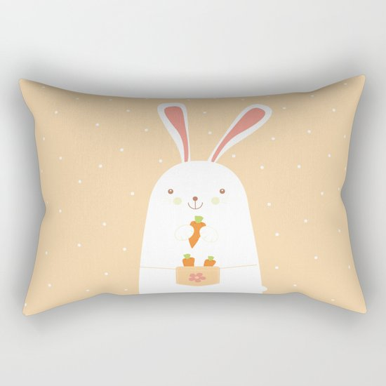 I promise nicely eat carrots. Rectangular Pillow