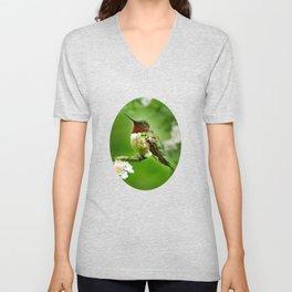 Hummingbird Flora Unisex V-Neck