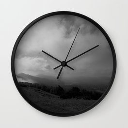 Misty Malvern Hills Wall Clock