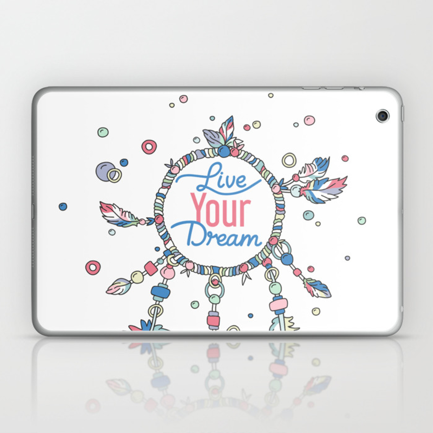 - Live Your Dream Dream Catcher - Pastel Colors Laptop & IPad Skin