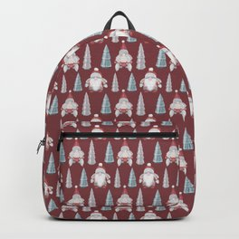 CHRISTMAS GNOMES - deep red Backpack