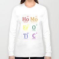 erotic Long Sleeve T-shirts featuring HOMO EROTIC  by SLANTEDmind.com