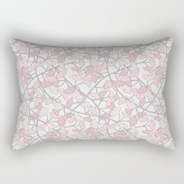 Ginkgo Leaves in Light Pinks Rectangular Pillow