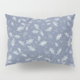 Seamless french farm house linen printed winter holiday background. Provence  Pillow Sham