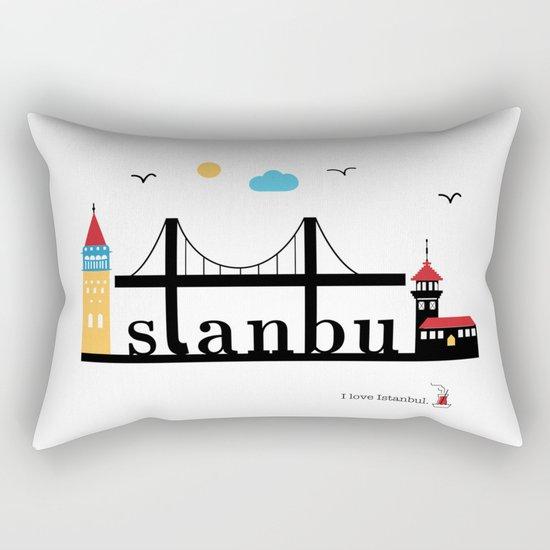 Istanbul. Rectangular Pillow
