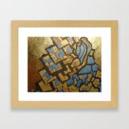 Gold cubic Eiffel tower close up Framed Art Print