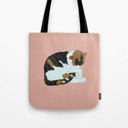 Cozy Calico Tote Bag