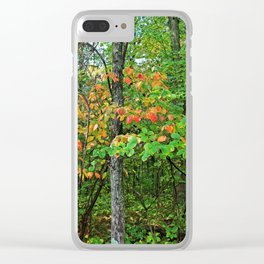 In the Wild Woods Clear iPhone Case