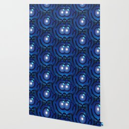 Blue Maze Wallpaper