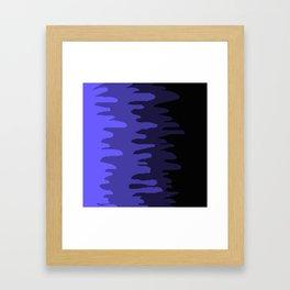 Splash of colour (blue) Framed Art Print