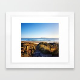 Beach Entrance Framed Art Print