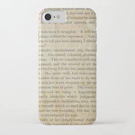Pride and Prejudice  Vintage Mr. Darcy Proposal by Jane Austen   iPhone Case