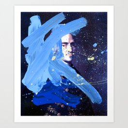 Blue Explosion Art Print