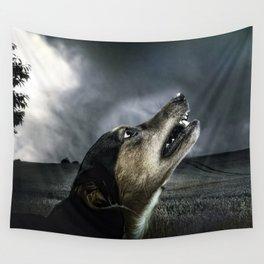 Dog moonlight 1 Wall Tapestry