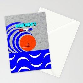 Maverick's California surfing art Stationery Cards