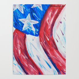 Old Glory Pop Poster
