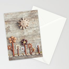 Dried fruits arranged forming flowers (3) Stationery Cards