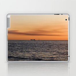 Orange Summersunset Feeling - Warnemuende - Baltic Sea Laptop & iPad Skin