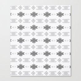 Southwestern Pattern Gray Cream Canvas Print