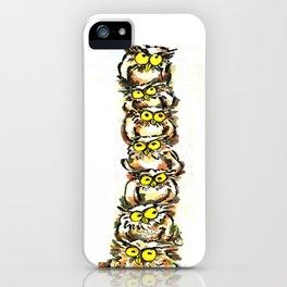 Family Owl iPhone Case