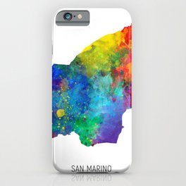 San Marino Watercolor Map iPhone Case