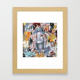 Graffiti Girl Framed Art Print