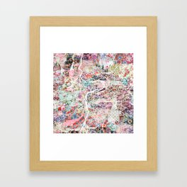 Prague map Framed Art Print