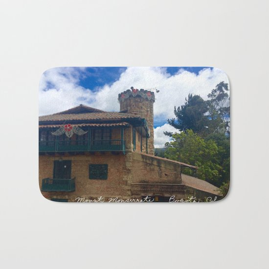 Mount Monserrate at Christmastime Maybe, Bogota, Colombia Bath Mat