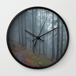 Forest vibes #foggy Wall Clock