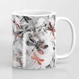 Dragonfly Lullaby in Marble and Rose Gold Coffee Mug