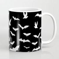 bats Mugs featuring Bats by PunkRockPlanet