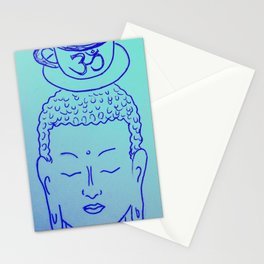 Teatime with Buddha Stationery Cards