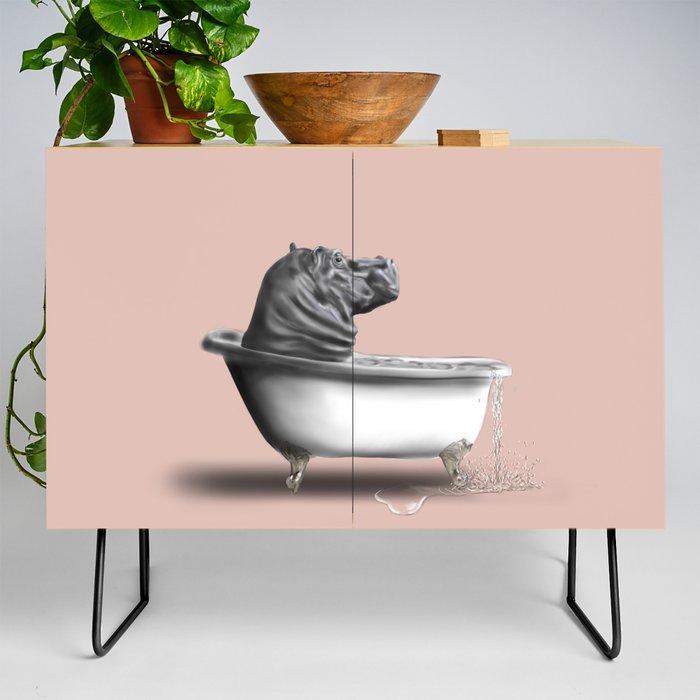 Hippo_in_Bath_Credenza_by_art_by_BLANSHIE__Black__Birch