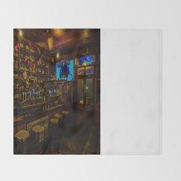 Old Irish Pub Throw Blanket