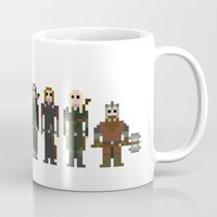 lotr Mugs featuring 8-bit LOTR The Fellowship of The Ring by MrHellstorm
