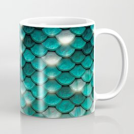 Turquoise sparkling mermaid glitter scales - Mermaidscales Coffee Mug