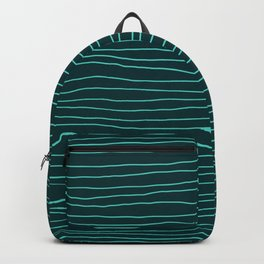 Hand Drawn Lines Turquoise Backpack