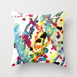 Experiments in Motion-Quad 1-Part 2 Throw Pillow